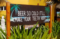 Beer so cold it'll make your teeth hurt!